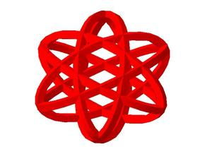 Ellipse pendant in Red Processed Versatile Plastic