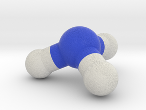Ammonia Molecule Model. 4 Sizes. in Full Color Sandstone: 1:10