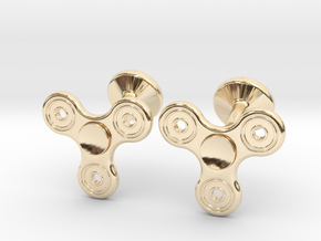 Fidget Spinner Cufflinks - SMALL in 14K Yellow Gold