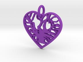 Angel Oak Tree - heart in Purple Processed Versatile Plastic