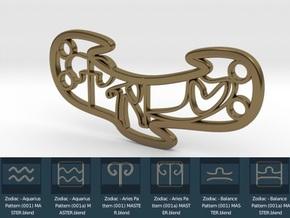 Personalised Astrological Love Bracelet in Polished Bronze