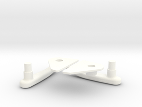 Lama Door Handles 1.4 in White Processed Versatile Plastic
