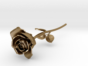 ROSE in Polished Gold Steel