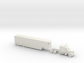Peterbilt 379 with Auto Carrier - 1:200scale in White Natural Versatile Plastic