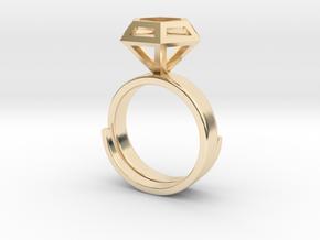 Diamondring US 6 in 14K Yellow Gold