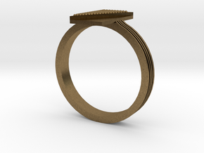 Fashion ring in Natural Bronze: 9.5 / 60.25