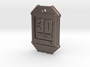 Dogtag 3D-Printing in Polished Bronzed Silver Steel