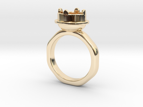 Ring Halkida in 14k Gold Plated: 5.5 / 50.25