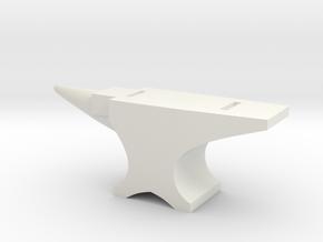 Anvil Tabletop Prop in White Natural Versatile Plastic