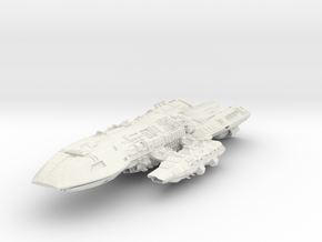 BSG  Scarab Class  BattleDestroyer in White Strong & Flexible