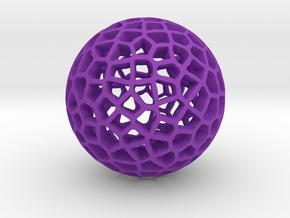 Vornoi Ball  in Purple Processed Versatile Plastic