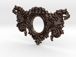Mandibula Pendant in Polished Bronze Steel