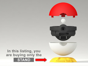"Pokeball Pokemon Go ""Ring Box"" (STAND) in Yellow Processed Versatile Plastic"