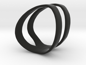 Hunt Midi Ring in Black Natural Versatile Plastic: 3 / 44