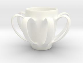 Coffee mug #4 XL - Many Handles in White Processed Versatile Plastic