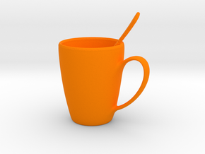 Coffee mug #5 - Spoon Included in Orange Processed Versatile Plastic