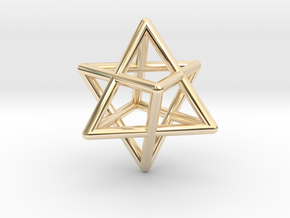 Merkaba pedant - medium in 14K Yellow Gold