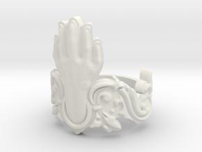 Manus Ring in White Natural Versatile Plastic: 10 / 61.5