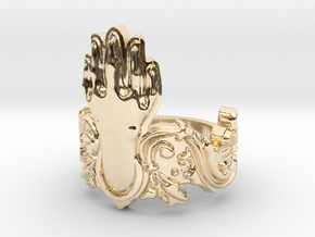 Manus Ring in 14k Gold Plated Brass: 10 / 61.5