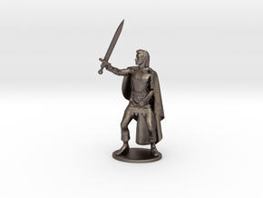 Belgarion Miniature in Polished Bronzed Silver Steel: 1:55