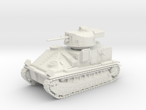 Vickers Medium MkII* 1-87 in White Natural Versatile Plastic