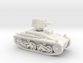 Vickers Light Mk.IIIb Dutchman  (1-87 scale) in White Natural Versatile Plastic