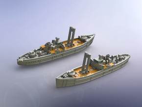 IJN Kinesaki Food Supply Ship 1/1800  in Frosted Ultra Detail