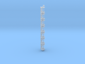 N Scale Stairs 3 (7 pc) in Smooth Fine Detail Plastic