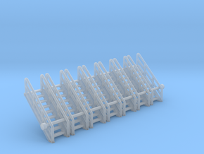N Scale Stairs 9 (7 pc) in Smooth Fine Detail Plastic