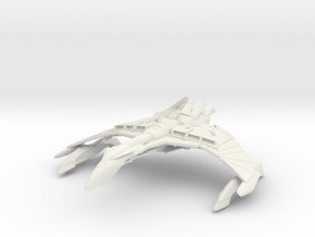 Dhael WarBird Class A   BattleCruiser in White Strong & Flexible