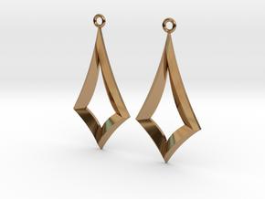 Kite Earrings in Polished Brass