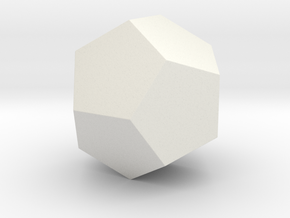 Dodecahedron in White Strong & Flexible