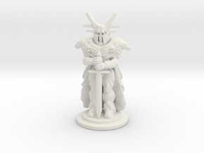 Undead Knight Mini 28mm in White Natural Versatile Plastic