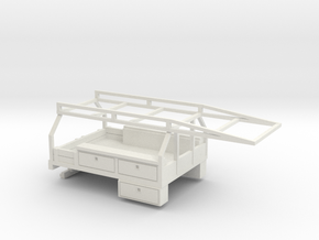 1/64 Contractor Bed for Dually Pickups in White Strong & Flexible