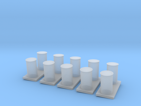 1/125 USN Destroyer Bollard Port Set in Smooth Fine Detail Plastic