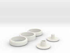 Fidget Spinner Triple Loop in White Strong & Flexible