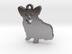 Smiling Corgi in Polished Nickel Steel