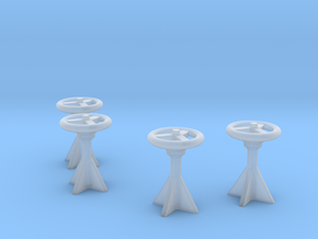 1/128 USN Control Wheels Set in Smooth Fine Detail Plastic