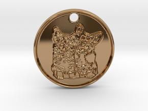Corgi Clones in Polished Brass