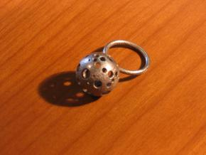 Large Moonball Ring in Stainless Steel