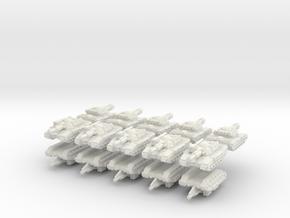 3mm Sci-Fi Tanks for TheWhiteDog in White Natural Versatile Plastic