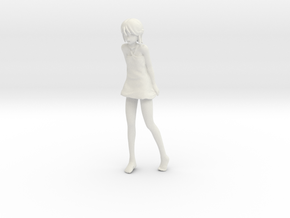 1/12 Girl at Beach in White Natural Versatile Plastic