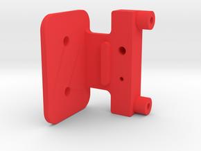 Symmetric M05 Battery Mount (Left Side) in Red Processed Versatile Plastic