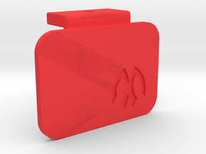 Symmetric M05 Battery Mount Cap in Red Processed Versatile Plastic