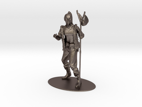Kender Miniature in Polished Bronzed Silver Steel: 1:55