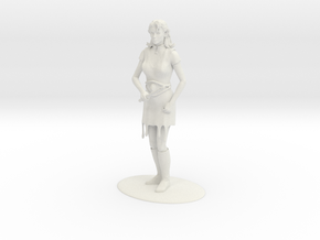 Elven Magic-User Miniature in White Natural Versatile Plastic: 1:55