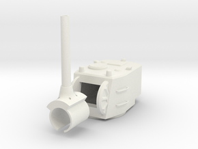 1/30 SU-12-180 Turret in White Natural Versatile Plastic