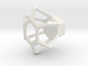 HEX in White Natural Versatile Plastic