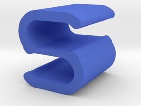 Cord Clip in Blue Processed Versatile Plastic