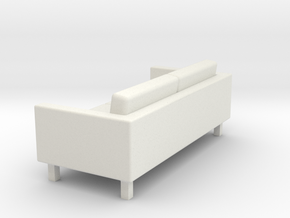 KARLSTAD Sofa - HO 87:1 Scale in White Natural Versatile Plastic